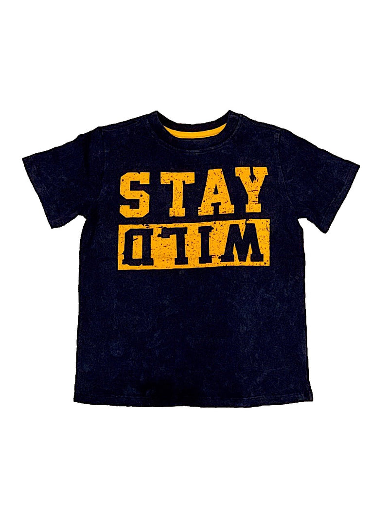 Crumbs Navy Stay Wild Tee