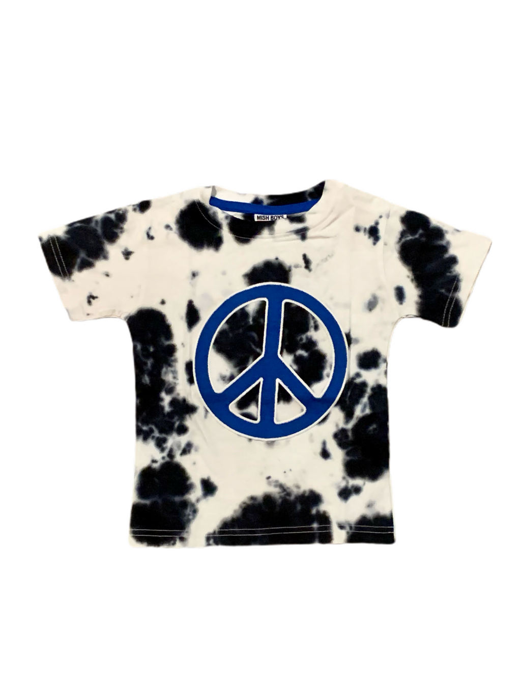 Mish Mish Black and White Tie Dye World Peace Tee