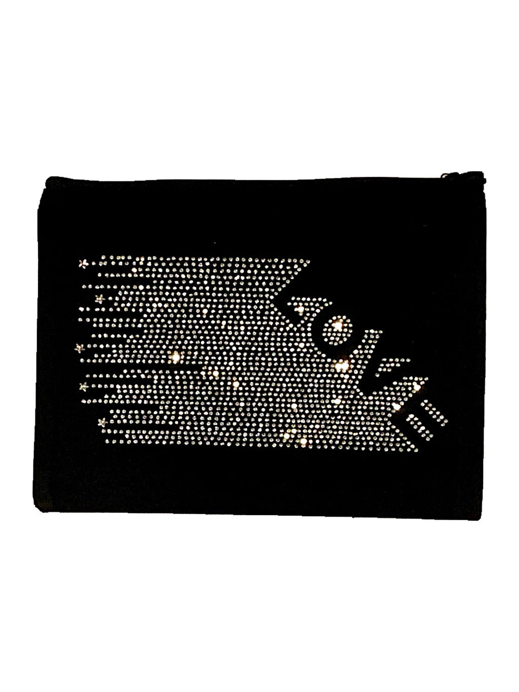 Love Canvas Pouch in Black