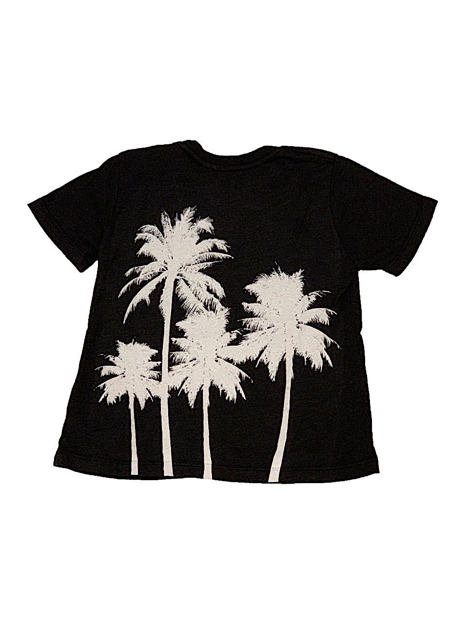 Californian Vintage Charcoal Tee with White Palm Trees