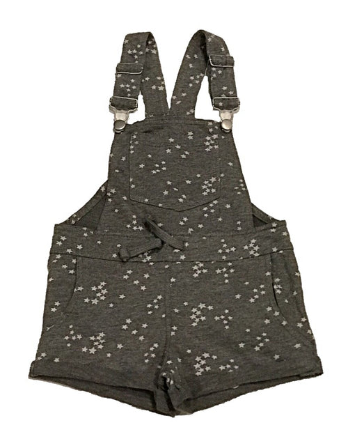 Vintage Havana Grey Star French Terry Short Overalls
