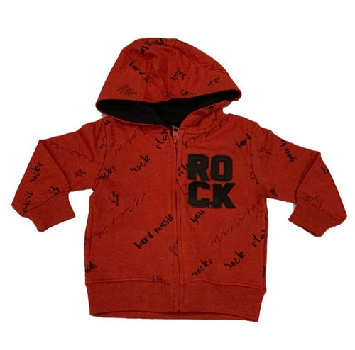 Losan Boys Orange Rock Zip Up Hoody
