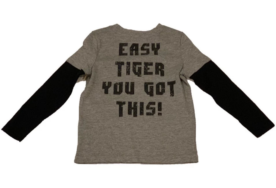 Crumbs Grey Easy Tiger Shirt