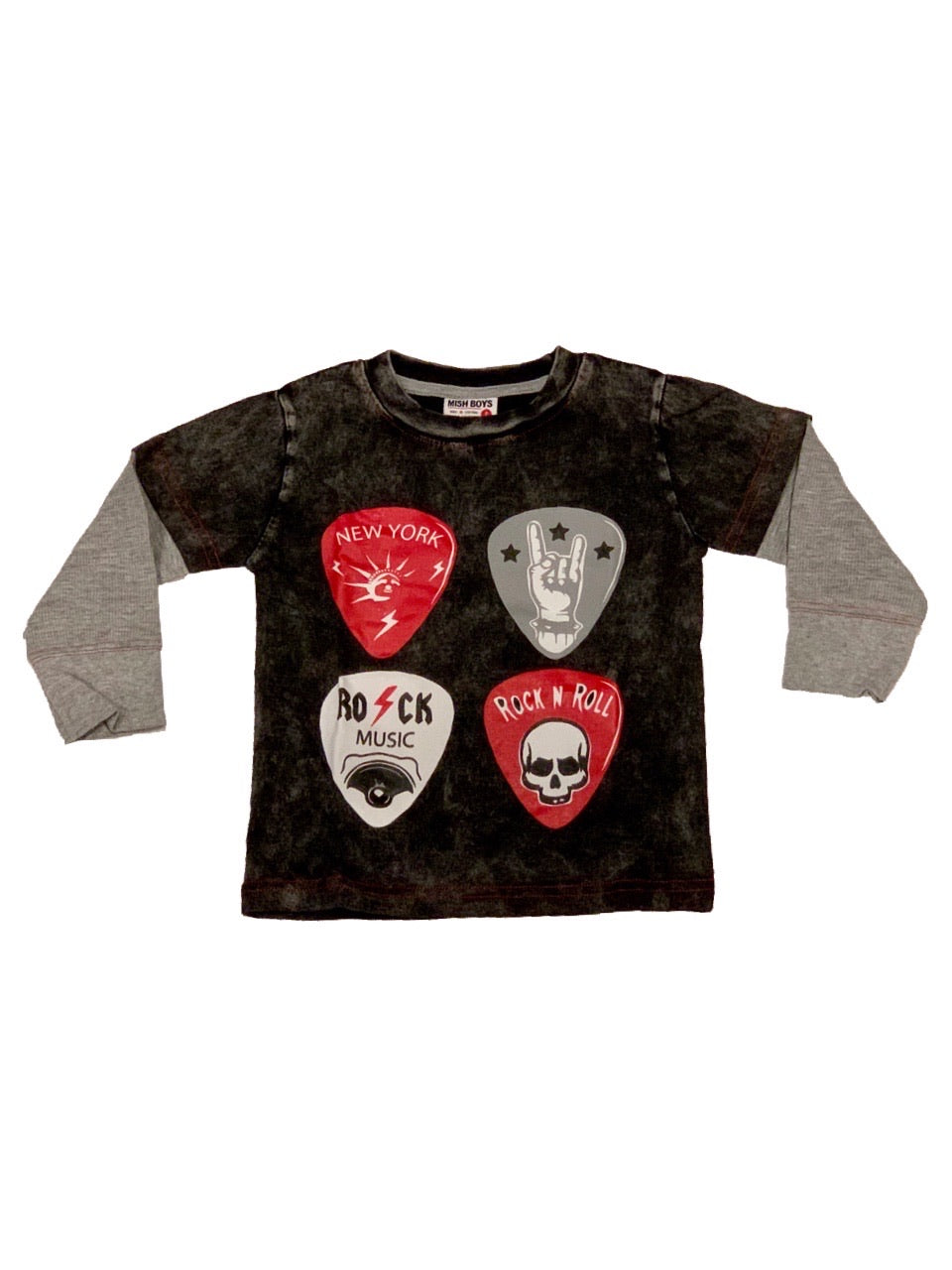 Mish Mish Guitar Picks Black Enzyme With Heather Thermal Sleeves
