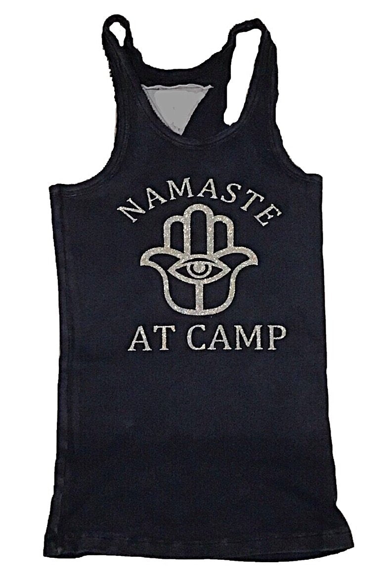 Custom Namaste at Camp Zip Code Tank