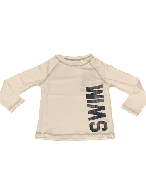 Mish Mish L/S White SWIM Rash Guard