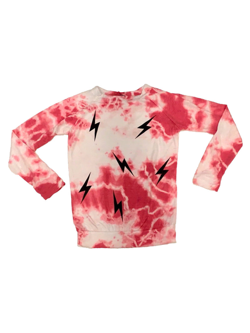 Firehouse Fushia Raglan With Black Bolts