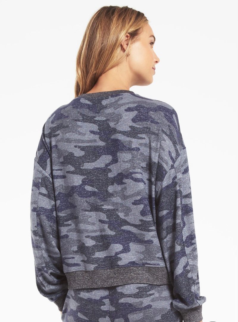 Z SUPPLY NOA CAMO MARLED TOP