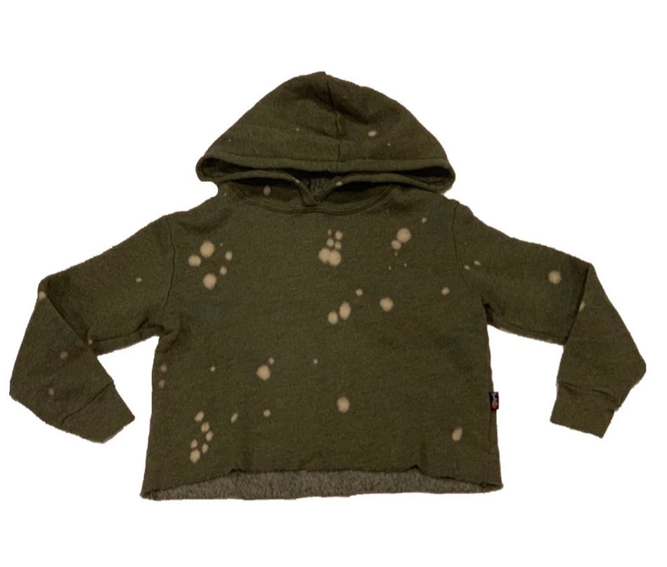 T2Love Olive Hooded L/S Oversized Crop Top