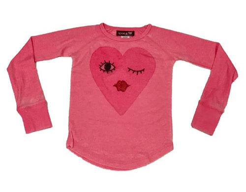 Sparkle By Stoopher Pink Thermal Heart Face
