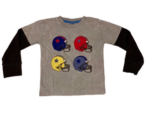 Mish Mish L/S Gray Football Helmets Shirt