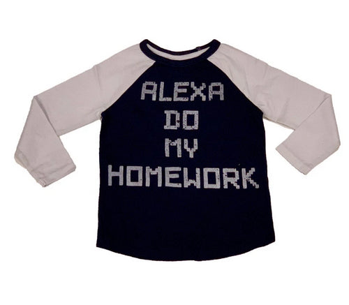 Crumbs Navy Alexa Homework Shirt