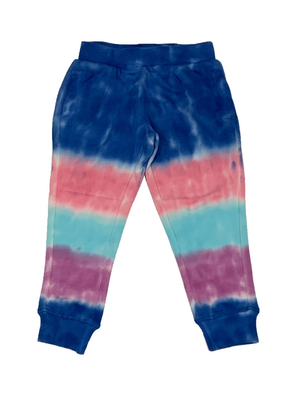 Blue and Purple Striped Tie Dye Joggers