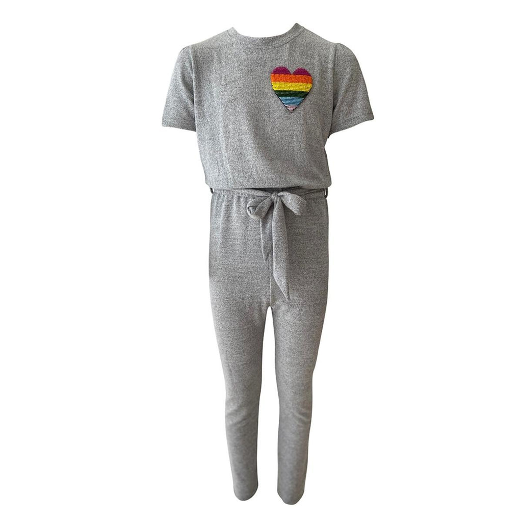 Lola and The Boys Grey Cozy Love Jumpsuit