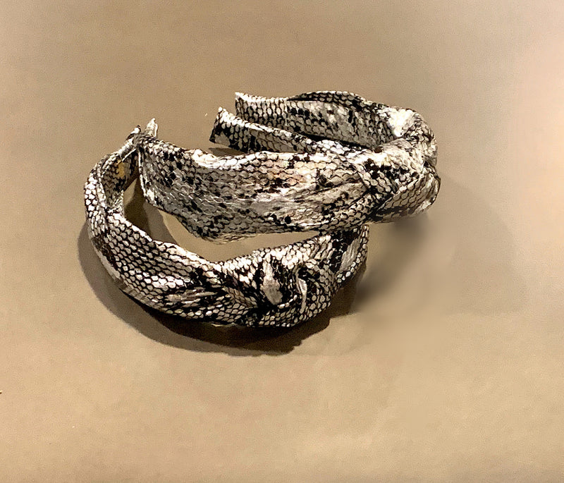 Silver/Black Snake Knot Headbands