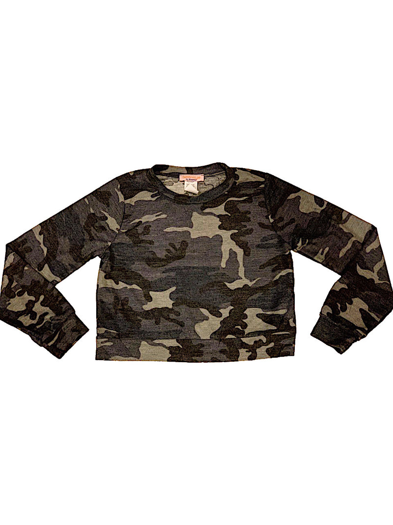 TWEEN STYLE BY STOOPHER CAMO LONG SLEEVE TOP