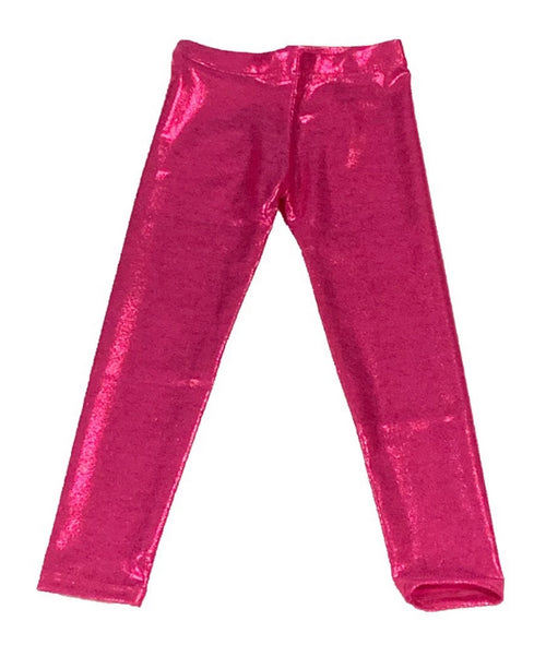 Dori Creations Hot Pink Lame Leggings