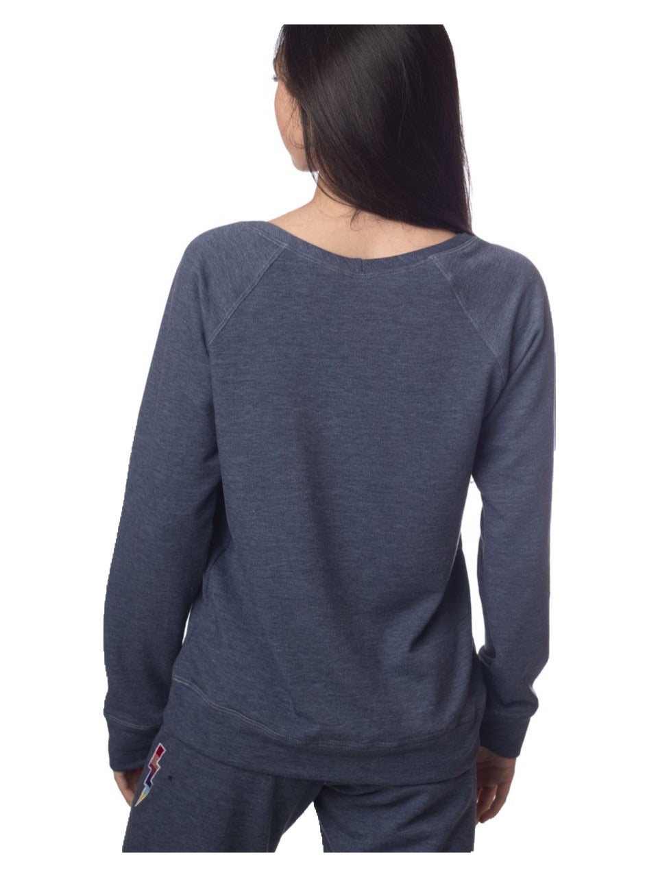 Emily Hsu Lightning Bolt Sweatshirt Sky Denim