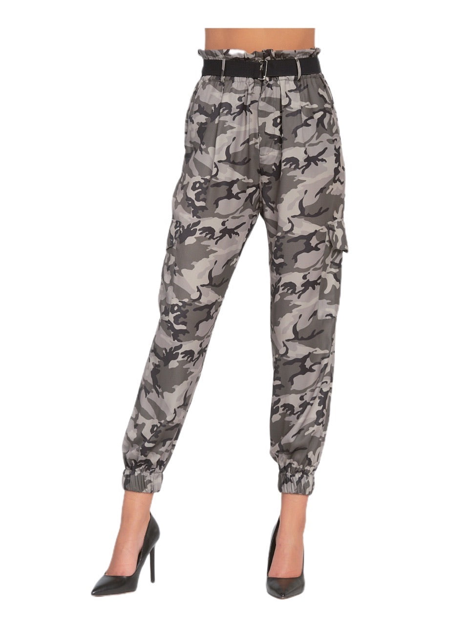 Elan High Waist Camo Cargo Pants