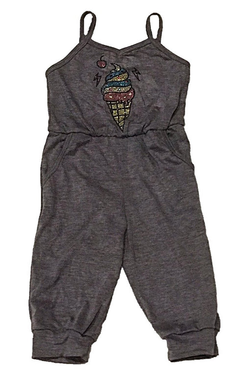 Sofi Purple Capri Romper With Ice Cream