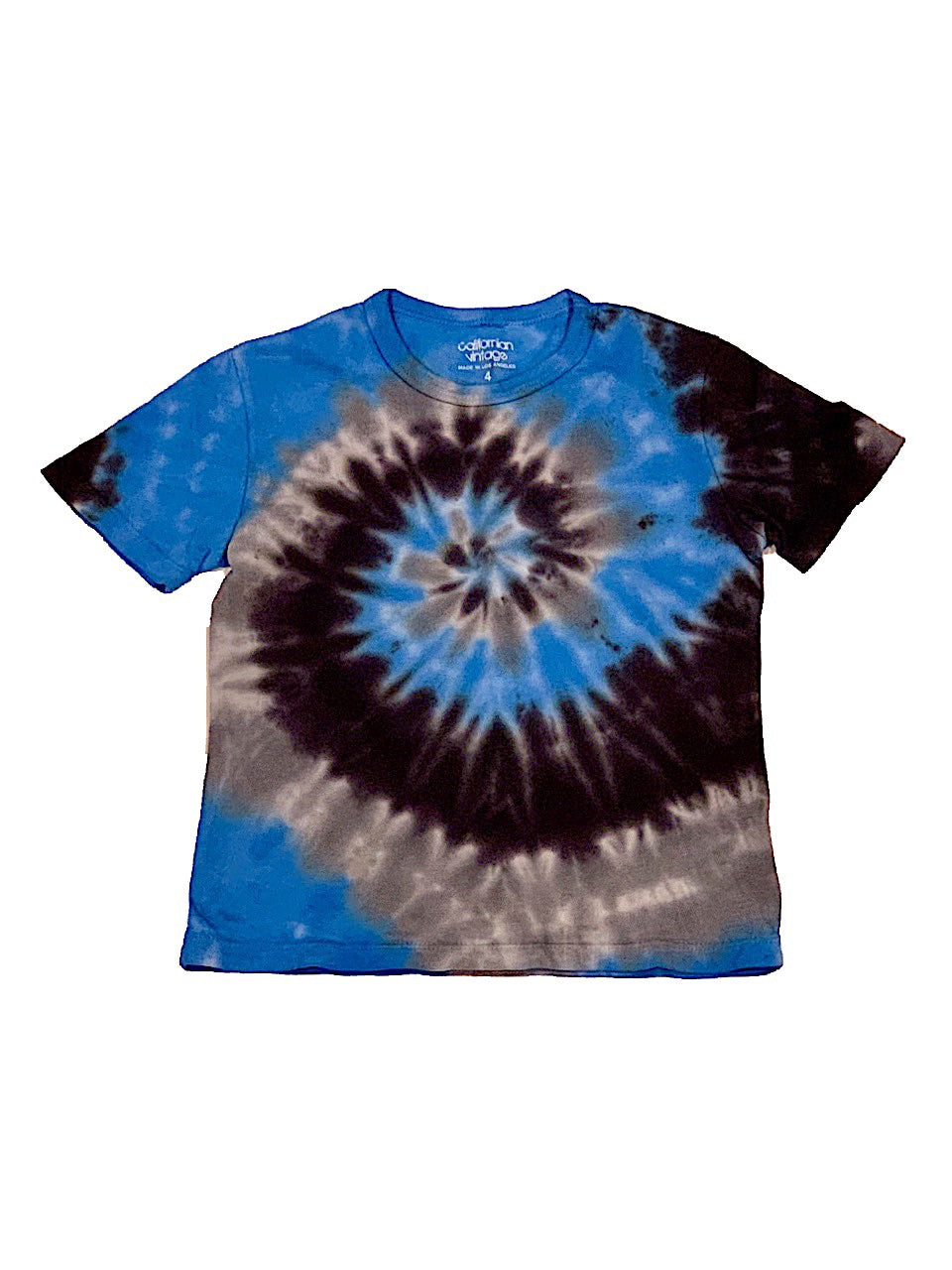 Californian Vintage Blue/Grey/Black Tie Dye Tee Shirt