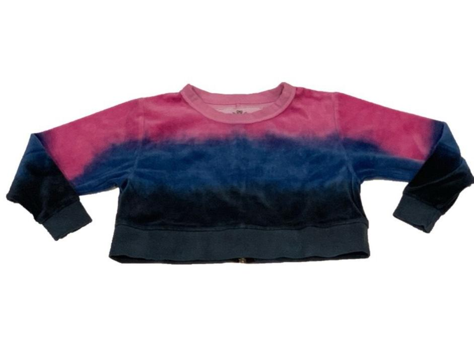 T2LOVE Tie Dye L/S Wide Crop With Zipper Back