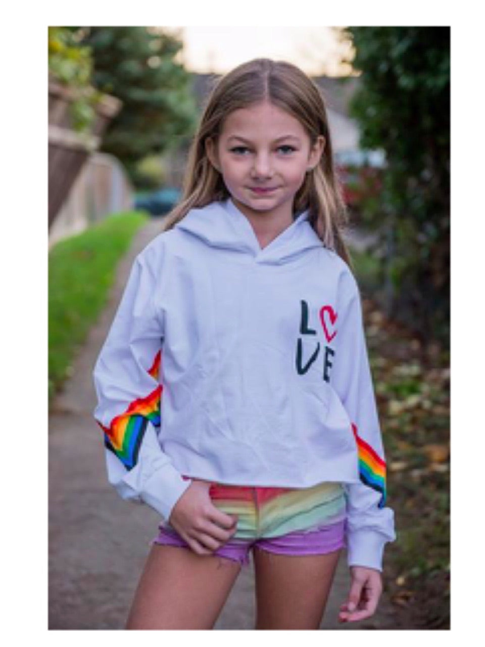 SPARKLE BY STOOPHER Rainbow Love Hoodie