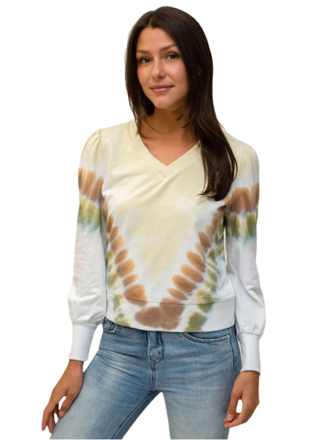 Design History Women Long Sleeve Seashell Top