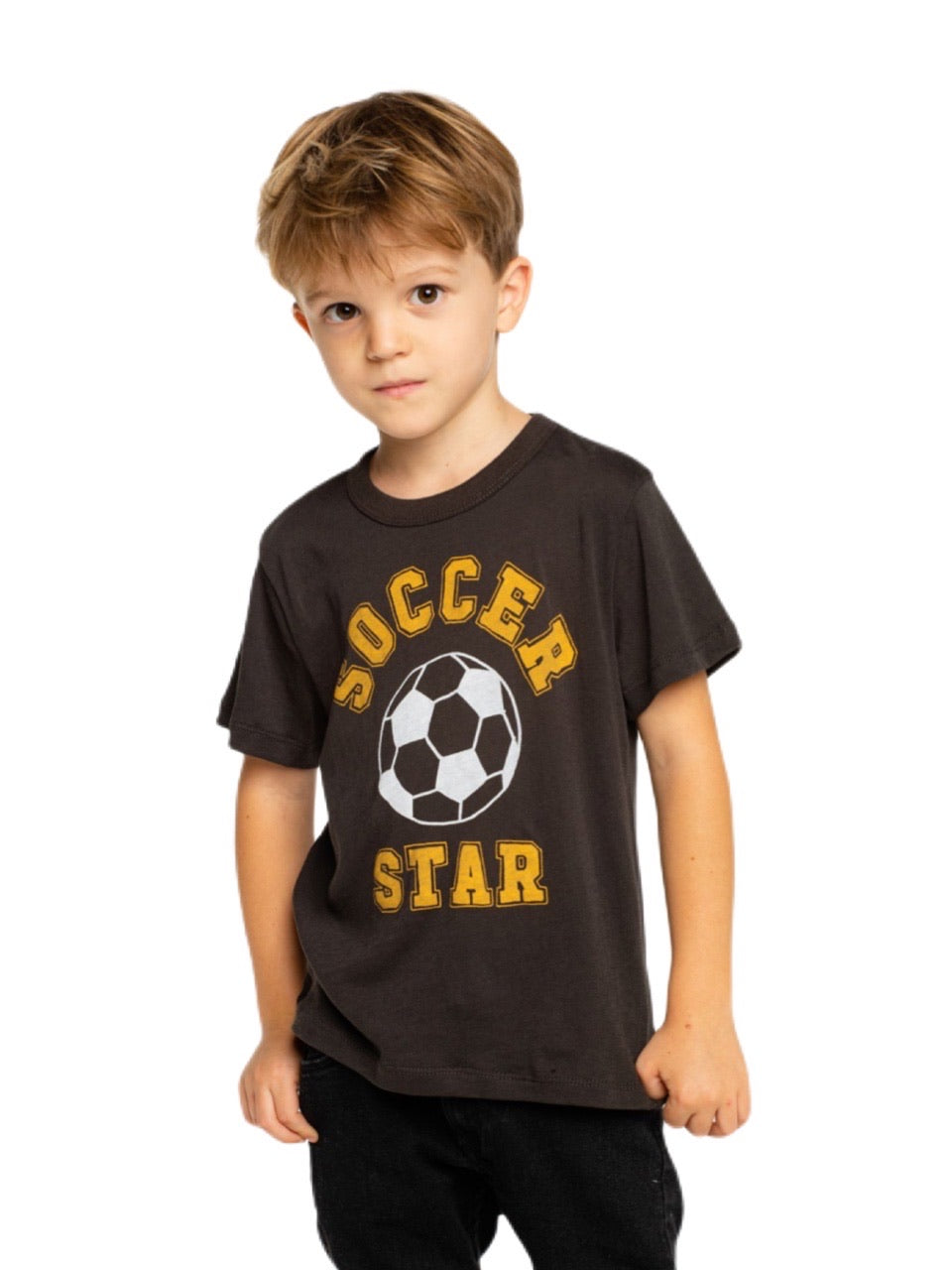 Chaser Boys Black Short Sleeve Soccer Tee
