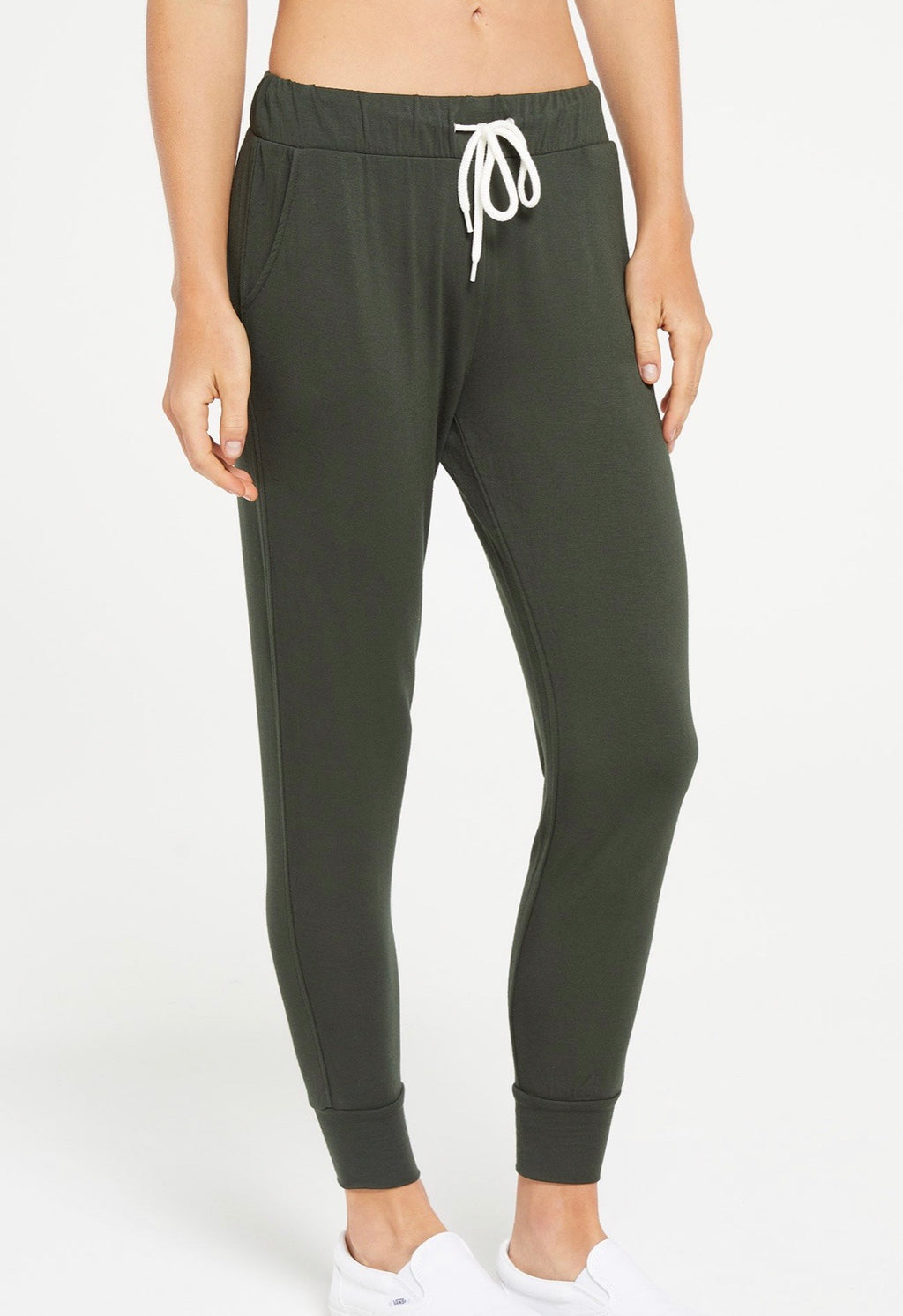 Z Supply Women Halden Jogger Forest Green