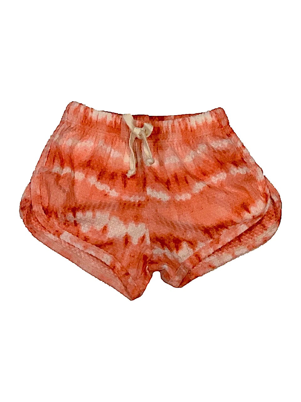 T2Love Coral Tie Dye Runner Shorts