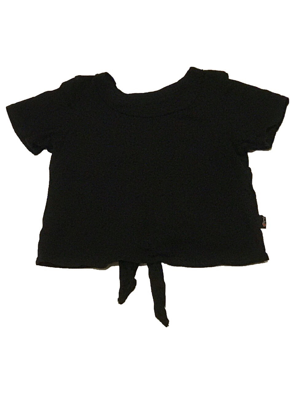T2Love Short Sleeve Black Tie Back Top
