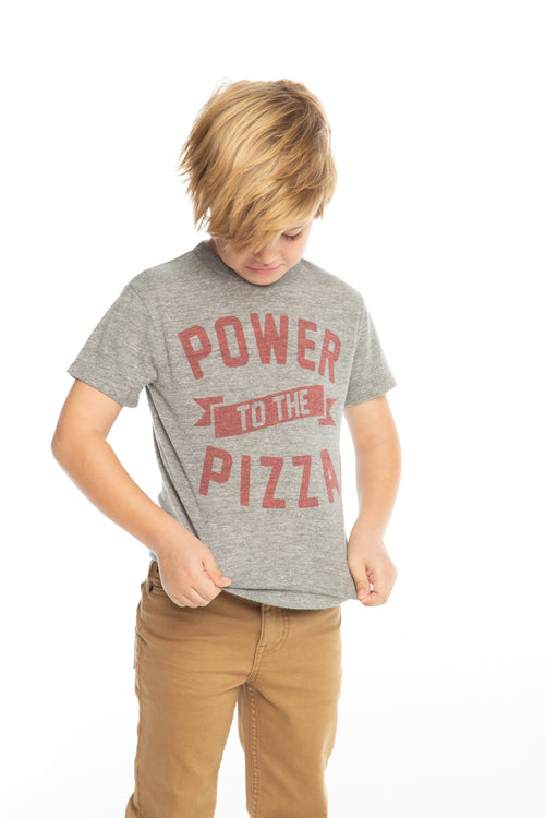 Chaser Boys Grey Power Pizza Tee