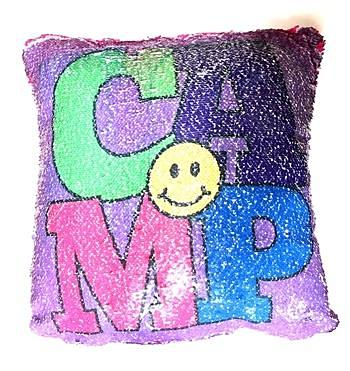 Love/Camp Reversible Sequin Pillow