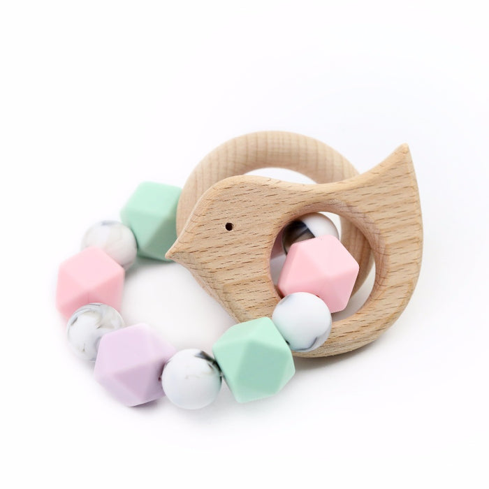Handmade Baby Bird Teething Rattle - Babe Basics