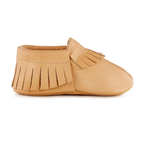 Signature Leather Moccasins - CARAMEL