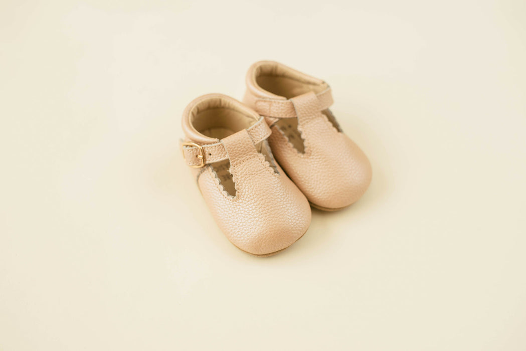 Soft-Sole Leather Mary Jane Moccasins - BLUSH LEATHER - Babe Basics