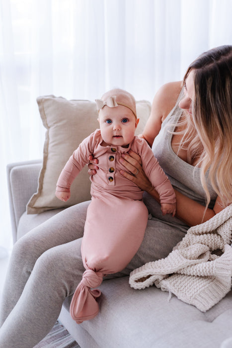 Knotted Baby Gown // 5 colors - Babe Basics