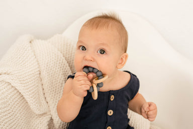 Grey Clouds Teething Rattle - Babe Basics