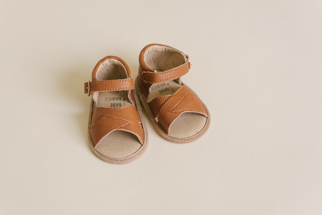 Tawny Leather Sandals - Babe Basics