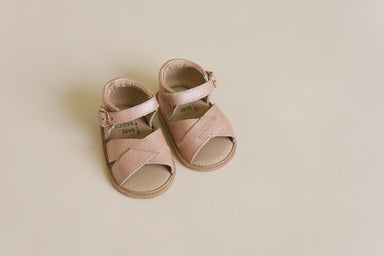 Blush Leather Sandals - Babe Basics