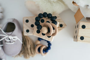 Black Teething Rattle