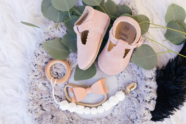 Soft-Sole Leather Mary Jane Moccasins - BLUSH