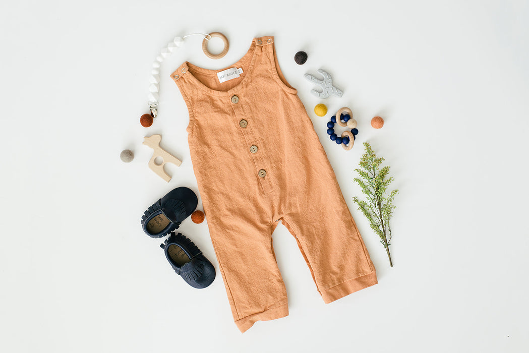 Honey Linen Basic Romper - Babe Basics
