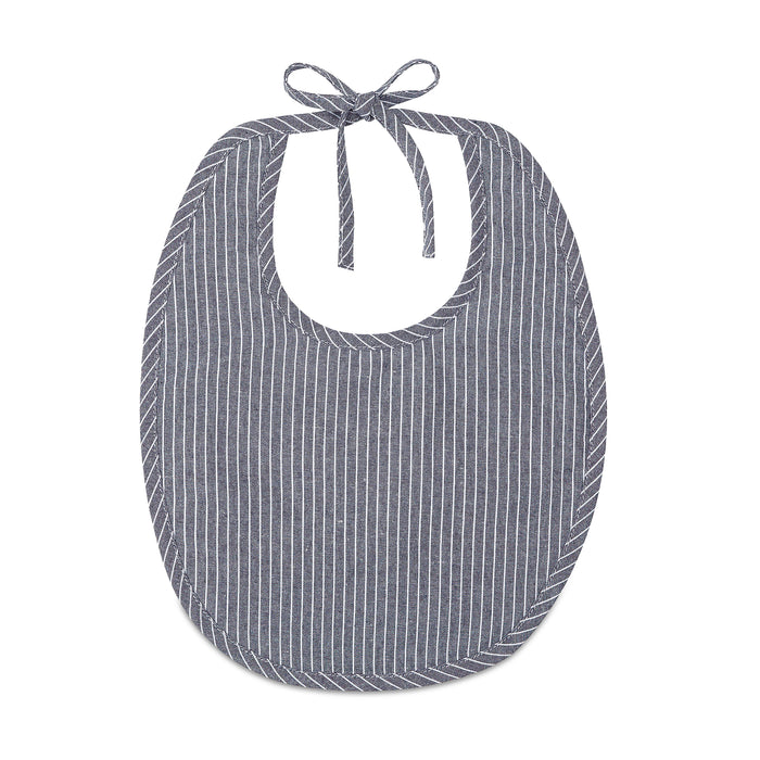 Linen Bib | Blue Striped