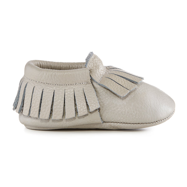 Signature Leather Moccasins - GREY