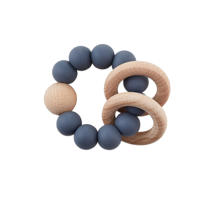 Grey Clouds Teething Rattle