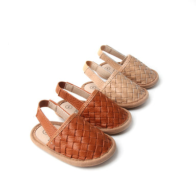 Woven Leather Sandals - Babe Basics
