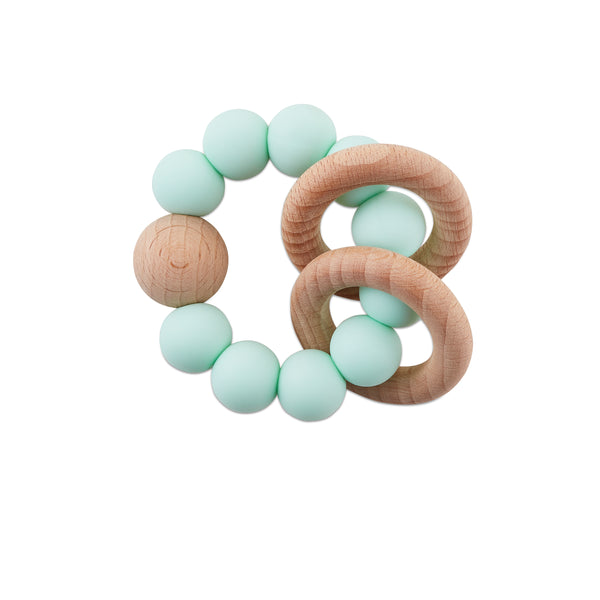 Mint Teething Rattle