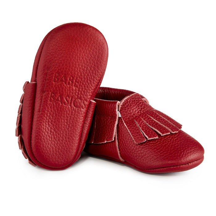 ★ LIMITED EDITION ★ Signature Leather Moccasins - WINE
